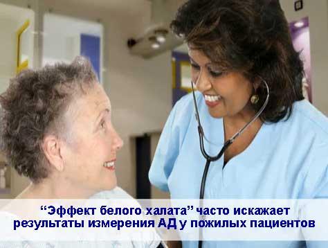 """""""Эффект белого халата"""" у пожилых пациентов"""