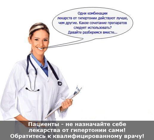 Комбинированное лекарственное лечение гипертонии