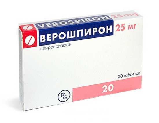Верошпирон (спиронолактон) - антагонист альдостерона